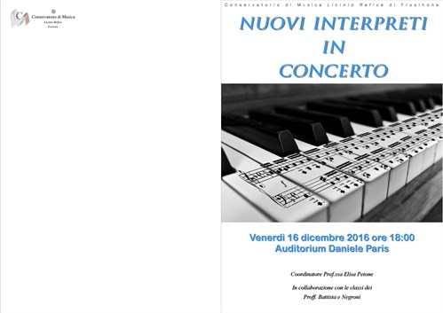 Nuovi interpreti in concerto
