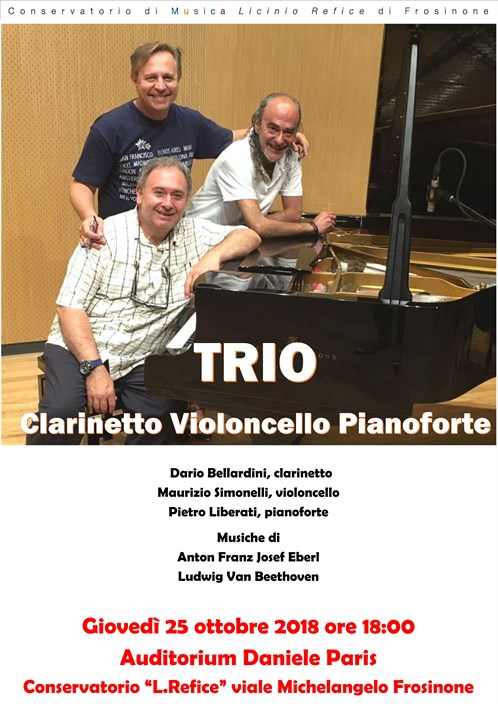 "Concerto ""TRIO"" clarinetto-violoncello-pianoforte"