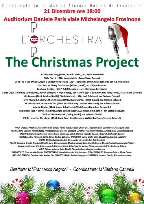 "Concerto dell'Orchestra Pop ""Christmas Project"""