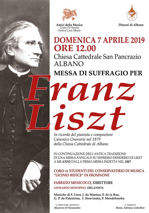 Messa di suffragio per Franz Liszt in ricordo del pianista compositore