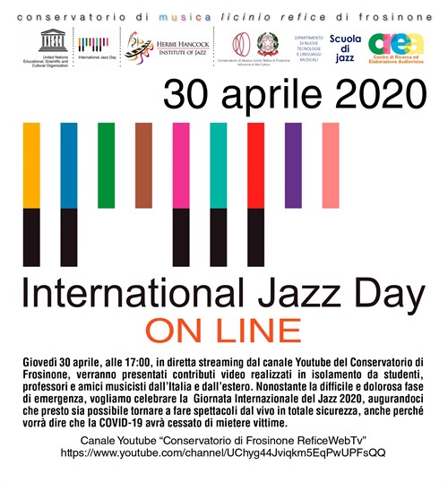 International Jazz Day 30 Aprile 2020